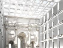 Stellas Großer Saal mit der Innenseite von Portal III