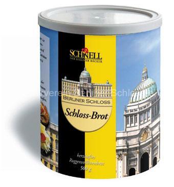 """le pain """"Berliner Schloss"""" en boite, qui se conserve bien"""